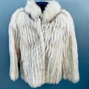 Vintage Saga Fox Genuine Blue Fox Fur Coat